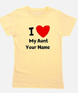 I Heart My Aunt (Your Name) Girl's Tee