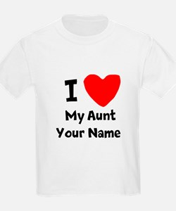 I Heart My Aunt (Your Name) T-Shirt