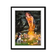 Fairies & Boston Terrier Framed Panel Print