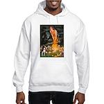 Fairies & Boston Terrier Hooded Sweatshirt