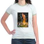 Fairies & Boston Terrier Jr. Ringer T-Shirt
