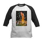 Fairies & Boston Terrier Kids Baseball Jersey