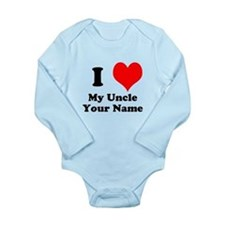 I Heart My Uncle (Your Name) Body Suit