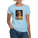 Fairies & Boston Terrier Women's Light T-Shirt