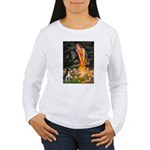 Fairies & Boston Terrier Women's Long Sleeve T-Shi