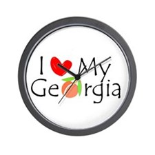 Love my Georgia Peach Wall Clock
