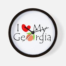 Love my Georgia Peach Wall Clock