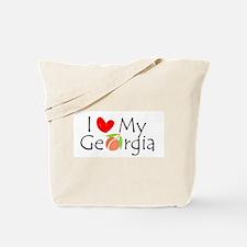 Love my Georgia Peach Tote Bag