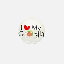Love my Georgia Peach Mini Button (10 pack)