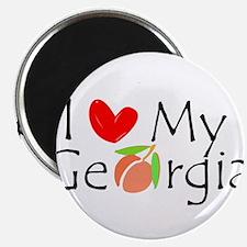 "Love my Georgia Peach 2.25"" Magnet (100 pack)"