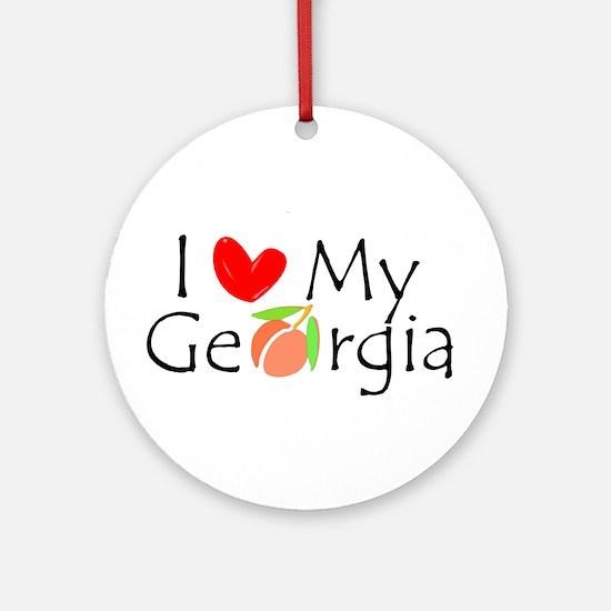 Love my Georgia Peach Ornament (Round)