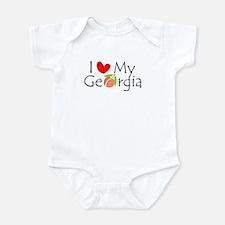 Love my Georgia Peach Infant Bodysuit