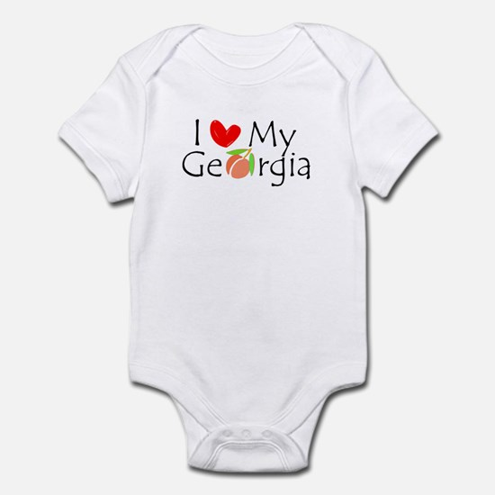 Love my Georgia Peach Infant Bodysuit