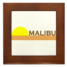 Malibu, California Framed Tile