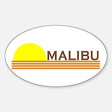 Malibu, California Oval Decal