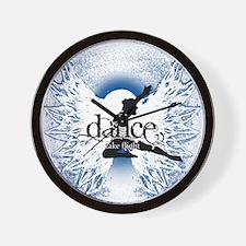 Dance Take Flight Indigo Mist Wall Clock