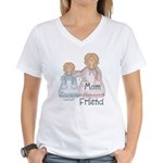 Alway's my Mom Forever my Fri Women's V-Neck T-Shi
