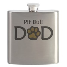 Pit Bull Dad Flask