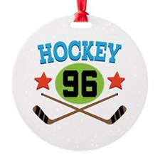 Hockey Player Number 96 Ornament