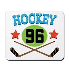Hockey Player Number 96 Mousepad