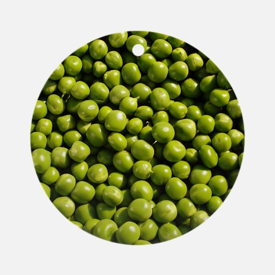 peas, vegetable, Ornament (Round)