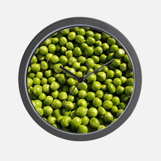 peas, vegetable, Wall Clock