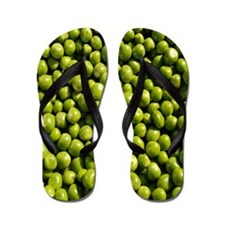 peas, vegetable Flip Flops