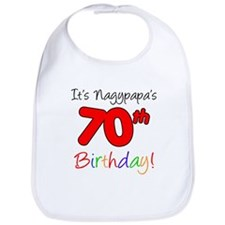 Nagypapa 70th Birthday Bib