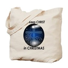 Christ in Christmas Tote Bag
