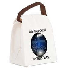 Christ in Christmas Canvas Lunch Bag