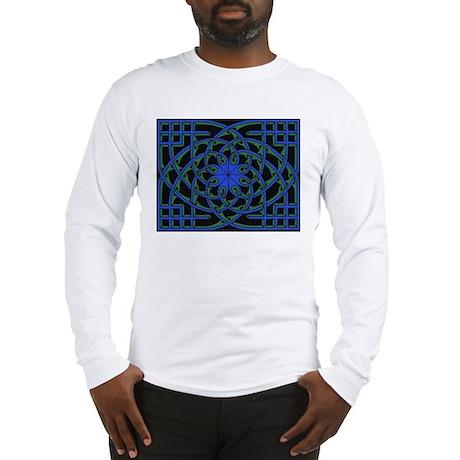 celtic weave design by Alan M Long Sleeve T-Shirt