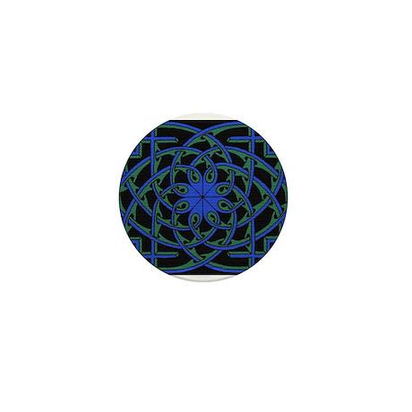 celtic weave design by Alan M Mini Button