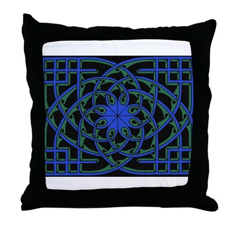 celtic weave design by Alan M Throw Pillow