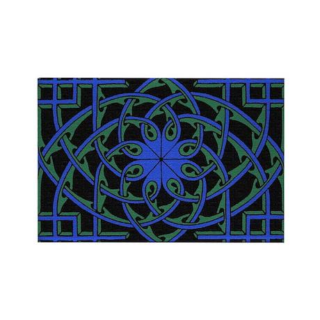 celtic weave design by Alan M Rectangle Magnet