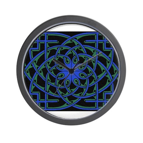 celtic weave design by Alan M Wall Clock