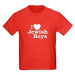 I Love Jewish Boys Kids Dark T-Shirt