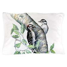 Downy Woodpecker Pillow Case