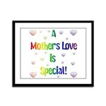 A Mothers Love is Special! Framed Panel Print