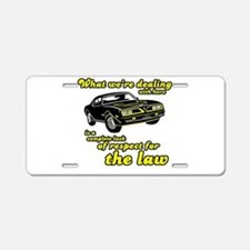 Cute Smokey and the bandit Aluminum License Plate
