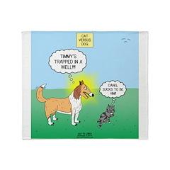 Tinkles vs. Lassie Throw Blanket