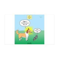 Tinkles vs. Lassie Wall Decal