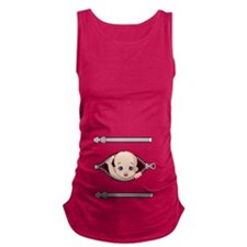 Cute Baby peeking Maternity Tank Top