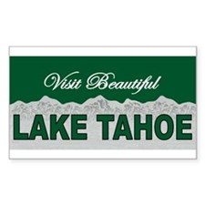 Visit Beautiful Lake Tahoe Rectangle Decal