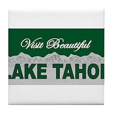 Visit Beautiful Lake Tahoe Tile Coaster