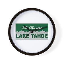 Visit Beautiful Lake Tahoe Wall Clock