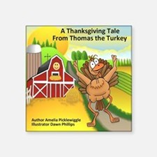 "Thomas Turkey Square Sticker 3"" x 3"""