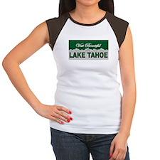 Visit Beautiful Lake Tahoe Women's Cap Sleeve T-Sh
