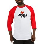 I Love Jewish Boys Baseball Jersey