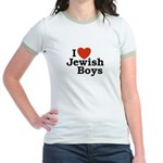 I Love Jewish Boys Jr. Ringer T-Shirt