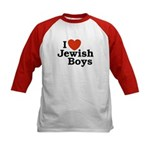 I Love Jewish Boys Kids Baseball Jersey